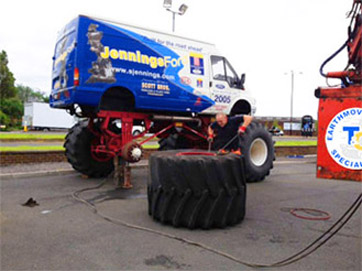 Monster Truck Tyre Repair
