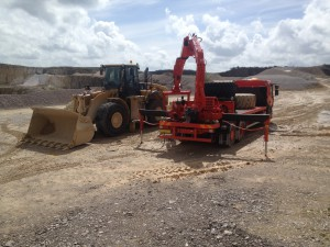 Tyre fitting at Hindlow Quarry