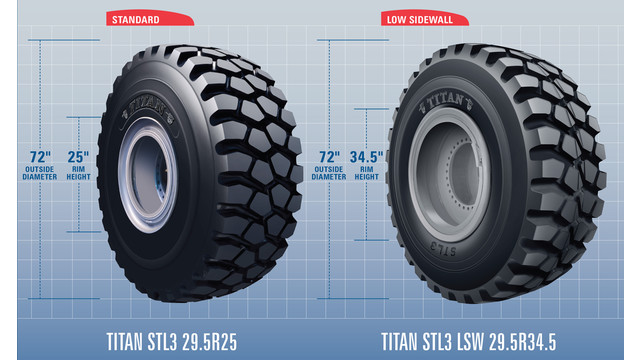 Standard vs Low Sidewall Titan 29.5 STL3