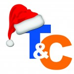 T&C Logo with Santa Hat